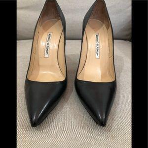 Manolo Blahnik - Black Leather Stilettos
